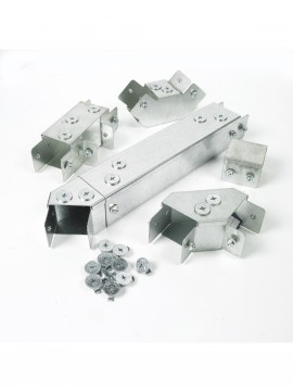 Unistrut Metal Single Compartment Trunking 150x150 Flange Coupler (RU66F)