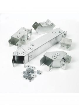 Unistrut Metal Single Compartment Trunking 50x50 Gusset End 90degrees Top Lid (RU22GBT90)