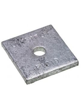 Unistrut Flat Plate Bracket M6 / M8 Square Plate Washer Hot Dip Galvanised (P1019) - Quantity Pack 5