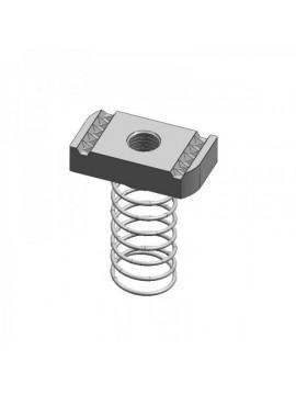 Unistrut Zinc Plated Long Channel Spring Nut M10 (PNL10ZP) - bag of 10 - Quantity Pack 25