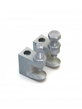 Lindapter M8 Type FL1 Flange Clamp 9mm Back Hole Zinc Plated (FL108D)