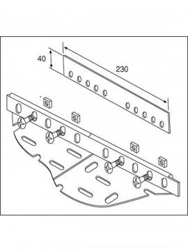 Unistrut 90 Degree Angle Bracket 4 Hole (2x2) Hot Dip Galvanised (P1278) - Quantity Pack 5