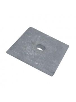 Unistrut Flat Plate Bracket M10 / M12 Square Plate Washer Hot Dip Galvanised (P1020) - Quantity Pack 5