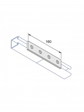 Unistrut Flat Plate Channel Support Bracket 4 Hole Hot Dip Galvanised (P1067) - Quantity Pack 5
