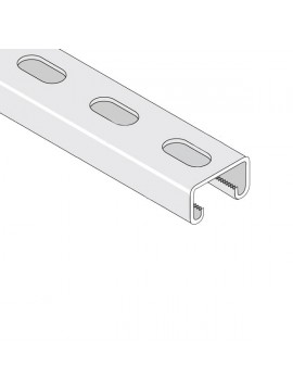 Unistrut 41x21 Slotted Stainless Steel 316 Channel 3m (P3300T10X3SS) - Quantity Pack 1