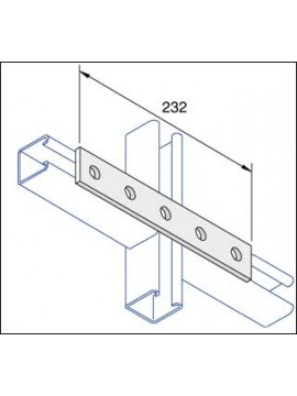 Unistrut Flat Plate Channel Support Bracket 5 Hole Hot Dip Galvanised (P1941) - Quantity Pack 5