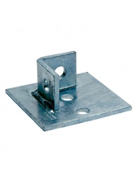 Unistrut Single Channel Base Floor Bracket Fittings 41x41 Hot Dip Galvanised (P2072-S1) - Quantity Pack 5